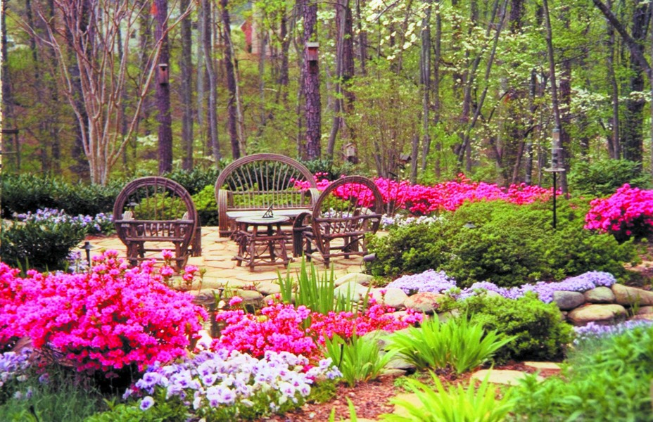 seating ii azalea woodland garden