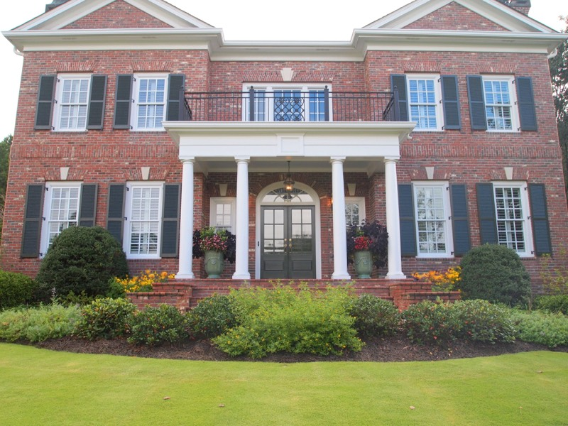 Porch landscape johns creek