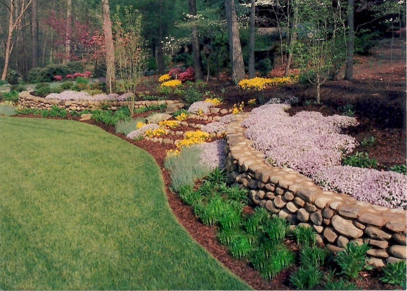 Stone walls front yard curb appeal