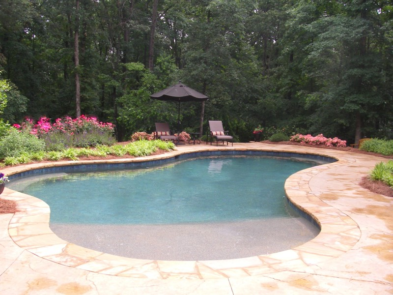 Hardscape everything that is not plants driveways for Pool design with sun shelf