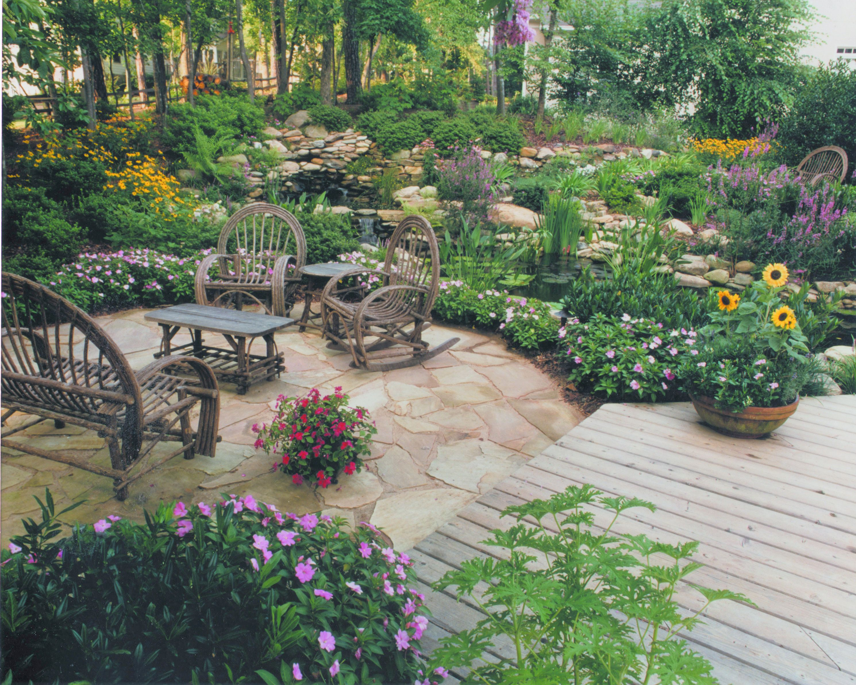 We designed and built everything you see in majority of for Decked garden designs