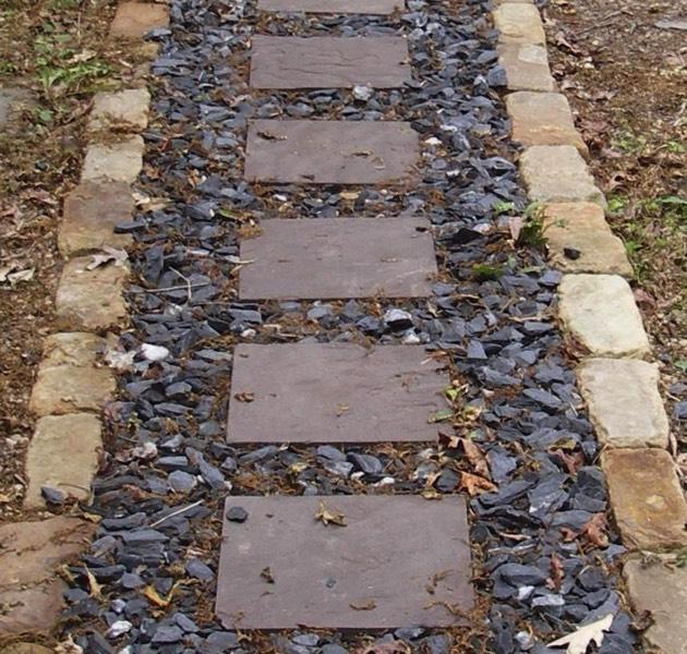 Flagstone Walkways Stone Steps Shadow Stacked Stone Walls