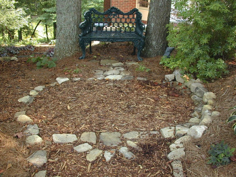 flagstone walkways stone steps shadow stacked stone walls metro home