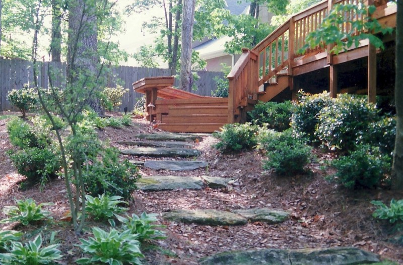 rustic natural stone steps