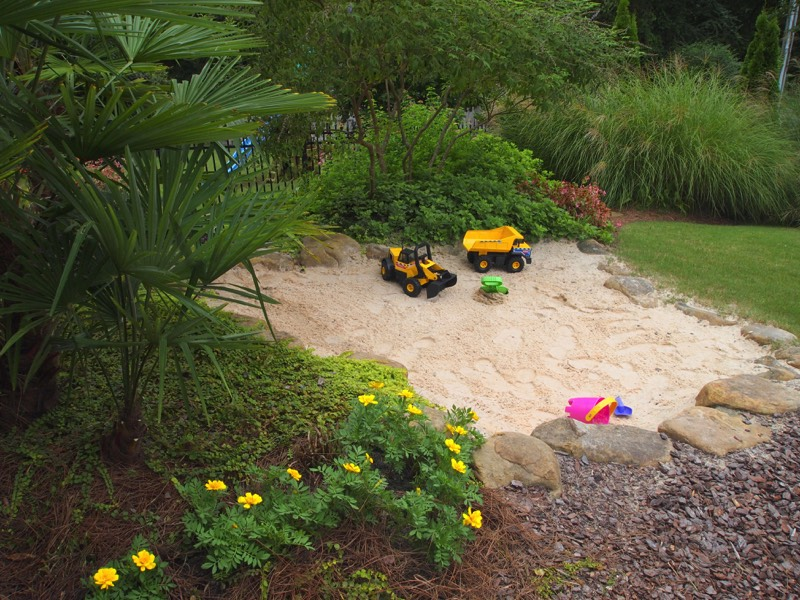 Beach tropical deep sand pit