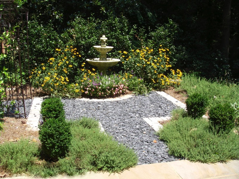 herb garden fountain