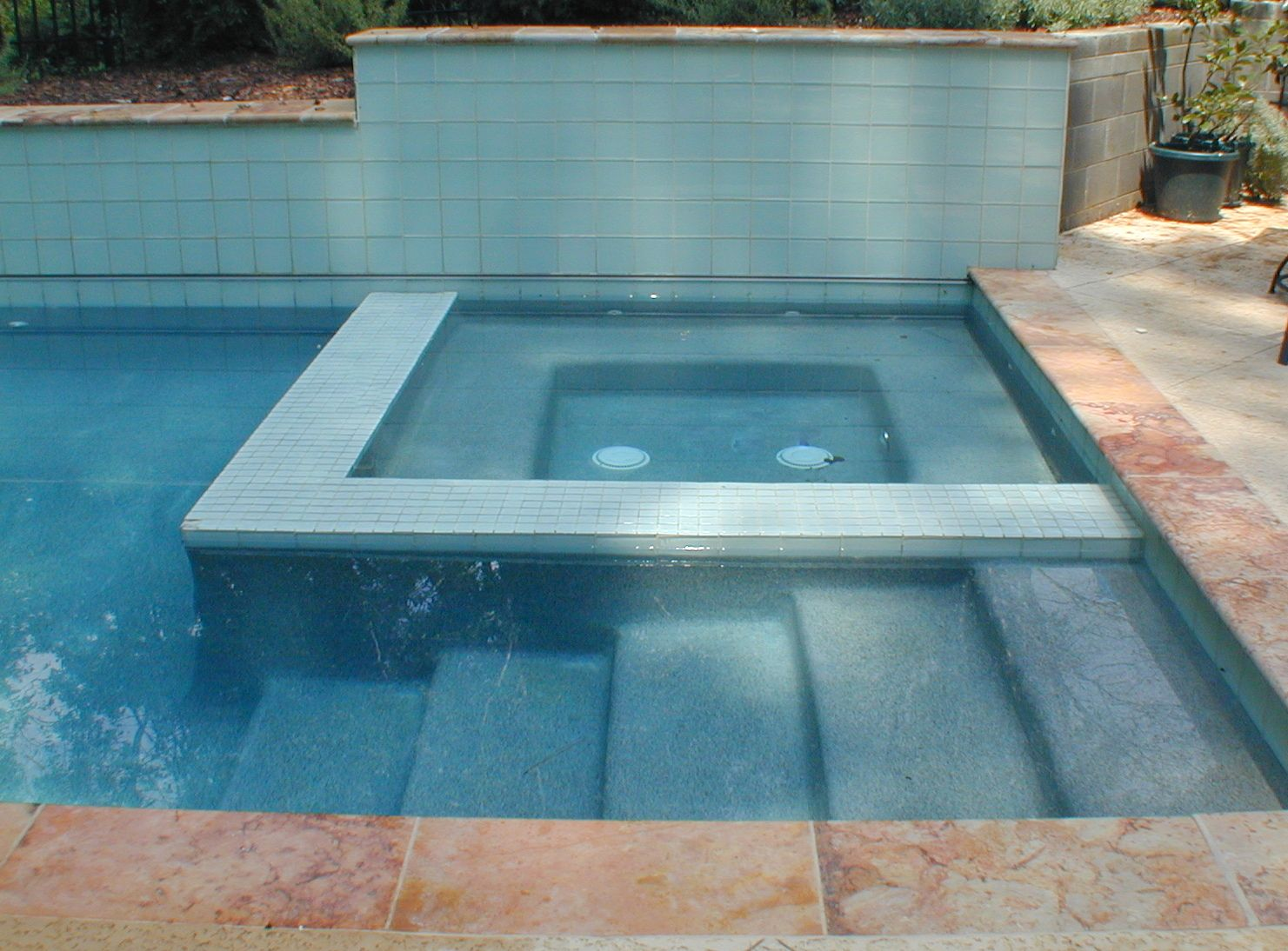 Spa In Swimming Pool: Swimming Pool Design Classic Traditional Modern Natural