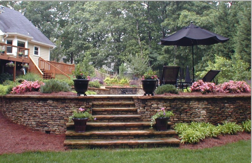 Walls terraces pretty walls planter boxes seating terraced for Terrace steps