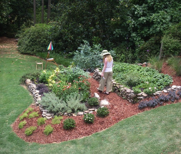 Terraced perennial garden