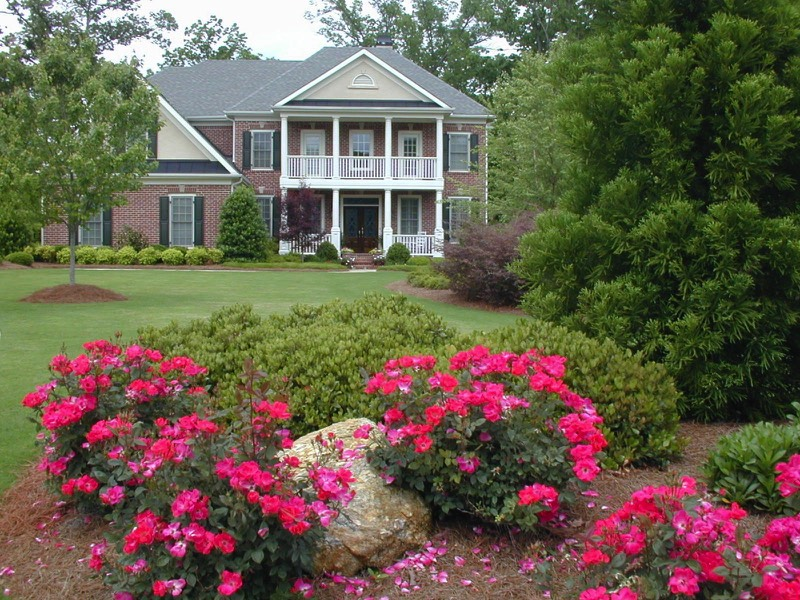 garden design landscaping. curb appeal Atlanta landscape design Residential Landscape Architect Design Build Home Garden